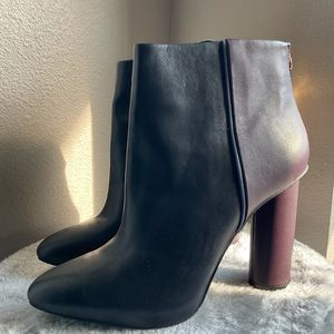 Cabi leather size cool heel Ankle bootie